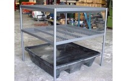 Two Shelf Bund Rack to suit 4 Drum Bund -
